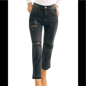 We The Free Lita Crop Straight Leg Jeans